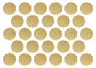 złote srebrne naklejki grochy kropki 2cm do 4cm  (4)