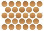 złote srebrne naklejki grochy kropki 2cm do 4cm  (6)