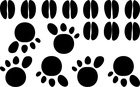 naklejki ślady łap kopyt MIX zestaw (2)