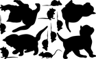 naklejki kotki i myszki na ściany meble szyby (2)