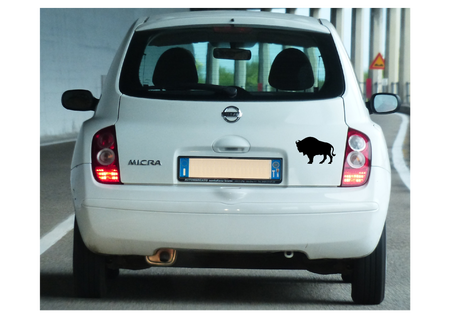 naklejka bizon żubr 12cm na samochód (1)