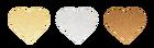 ZŁOTE naklejki serduszka 247szt 1,5cm ślub wesele (2)