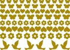 ZŁOTE naklejki dekoracyjne 81szt mix3 księga gości (1)